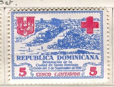 DOMINICA;  1930 early Red Cross issue fine Mint hinged 5c. value