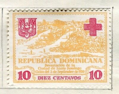 DOMINICA;  1930 early Red Cross issue fine Mint hinged 10c. value