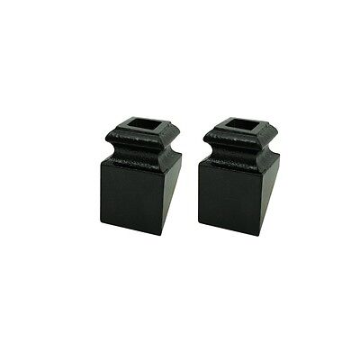 ALEKO M1 Lot Of 2 Black Metal Shoes 1/2 Inch For Balusters Stair Supply Part