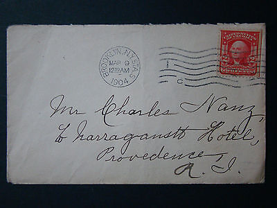 Early Us Cover Tied With 1904  Brooklyn,ny. Sta.s Cds With #319 2 Cent