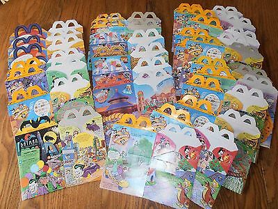 Vintage 26 Assorted McDonalds Happy Meal Boxes 1980's
