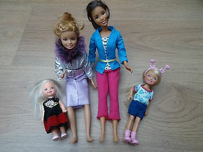 Barbie Stacie & Chelsea & Shelly Doll Bundle Dressed In Clothes