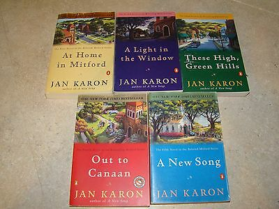 The Mitford Series books, 1-5, all paperback... by Jan Karon