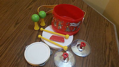 Vintage 1979 Fisher Price Marching Band Drum Set COMPLETE