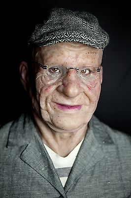 """Silicone Mask Old Man """"Cleveland"""" Halloween Hand Made Realistic High Quality,"""