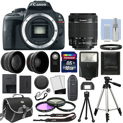 Canon EOS Rebel SL1 Digital SLR Camera + 3 Lens: 18-55mm STM Lens + 16GB Bundle