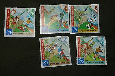 5X Equatorial Guinea Munich 1974 sport used stamps postage philately mail postal