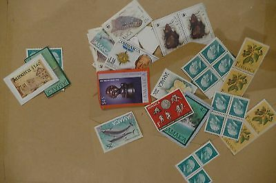 $67 face value UNFRANKED Jamaica used postage stamps - philately postal mail
