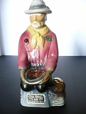 Ezra Brooks Gold Miner Decanter Bottle - Genuine Heritage China