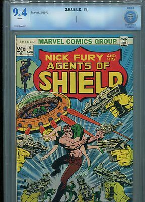 Agents Of Shield #4 Cbcs Nm 9.4 Classic Steranko Cover Whte Pages