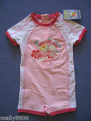 Girls - Rash Suit - Swimmers - Bathers - UPF 50+  - Size 1, 2