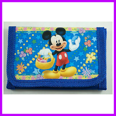 NEW Mickey Mouse Kids Childrens Boys Girls Coins Purse Bag Wallet + Gift