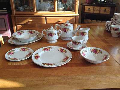 Cottage Rose Ironstone China by Wood & Sons England