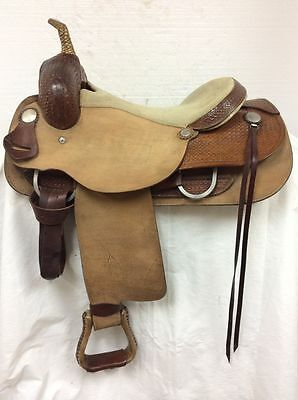 "Western Cutting Saddle #100 Used 16"" Regular Quarter Horse Bar Made in the U.S.A"