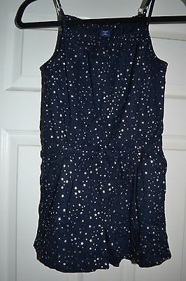 Adorable Gap Navy Romper with Silver Stars Size Large 10 EUC