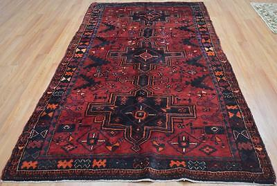 4'10x9'2 Amazing Plush Genuine Persian Tribal Animal Hand Knotted Wool Area Rug
