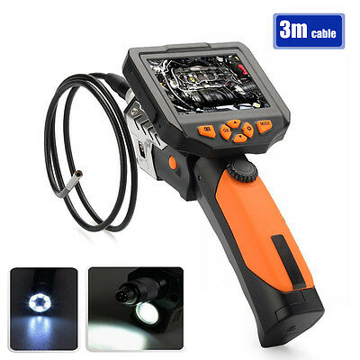 3.5'NTS200SL LCD Inspection Camera 1W LED 5.5 mm Borescope Endoscope w/cable