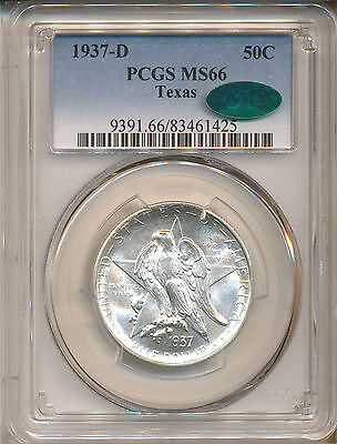 1937-D Texas Commemorative 50C Ms66 Pcgs Cac