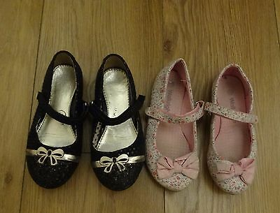 2 pairs of girls shoes size 10