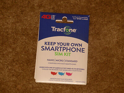 TRACFONE BYOP Bring Your Own Phone Sim Card Activation Kit  !!