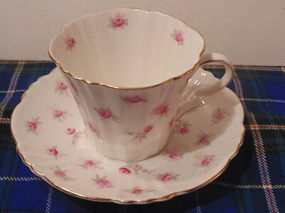 vintage royal albert  crown china cup & saucer, tiny flowers