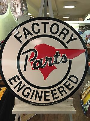 Pontiac Factory Engineered Parts Sign