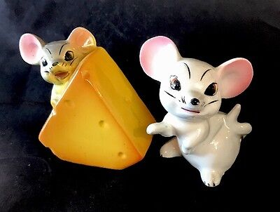Mouse / Mice & Cheese Japanese Made Salt & Pepper Shaker Set - 1950/60s Japan