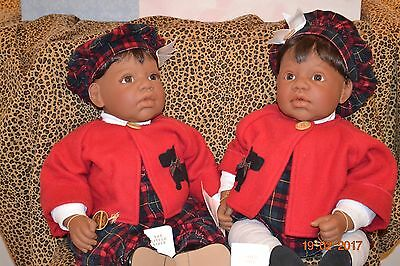 "Lee Middleton Originals ""Little Scottie - Girl & Boy"" in Middleton box with tags"