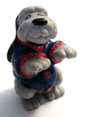 "Tonka 1986 VTG PVC Pound Puppy Dog With Blue Sweater Figure 2"" Tall"