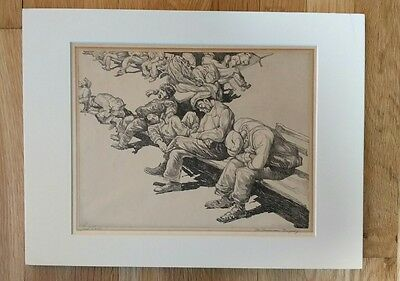 Saul Raskin The American Tragedy Listed Artist Etching Signed