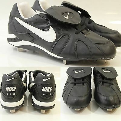 Nike Air Mens Metal Cleats Shoes Size 11.5 Black White Baseball Softball