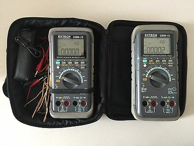 Extech CMM-15 Process Calibrator Multimeter Quantity 2 with Many Extras