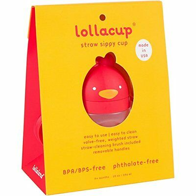 Lollaland Lollacup - Infant/Toddler Sippy Cup with Straw - Red