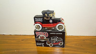 Vintage 1988 Texaco 1918 Ford Runabout Locking Coin Bank W/ Key Die Cast Metal