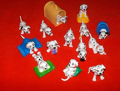 DISNEY  101 DALMATION PUPPY FIGURES Lot Of 14 Cake Toppers Collectibles