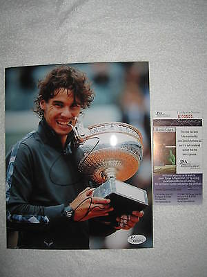 Spain RAFAEL NADAL SIGNED AUTOGRAPHED 8x10 Photo Exact PROOF JSA K03505