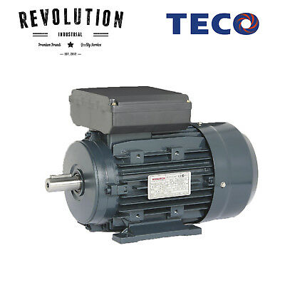 TECO Electric Motor 750 Watt, 1400 rpm, Single Phase (240 volt), Foot mounted IE