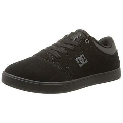 DC 0593 Boys Crisis Black Big Kid Leather Sneakers Skate Shoes Athletic 6 BHFO