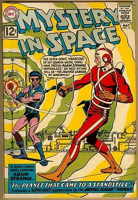 Mystery In Space #75 - Adam Strange - Justice League Appearance - 6.5 Fine+
