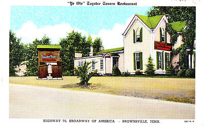1949 Vintage Restaurant Postcard ~ Taystee Tavern ~ Highway 70-79 Brownsville TN