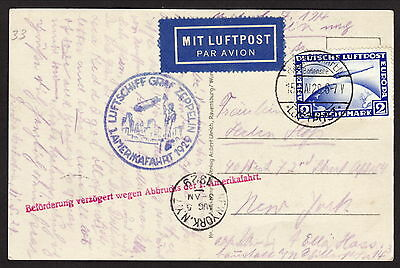 Graf Zeppelin May 16 - 17 1929 American Trip with New York Cancel