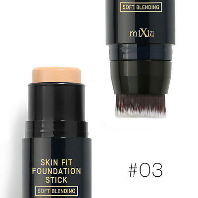 Makeup Cream Face Eye Foundation Concealer Double Head Stick Brush Smooth #03