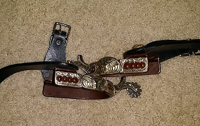 Western Spurs with Straps