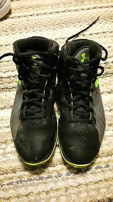 Youth Under Armour Black/Gray Basketball shoes Size 4.5 Unisex