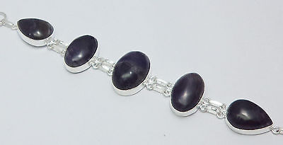 Sale Beautiful Amethyst Gemstone 925 Sterling Silver Overlay Latest Bracelet