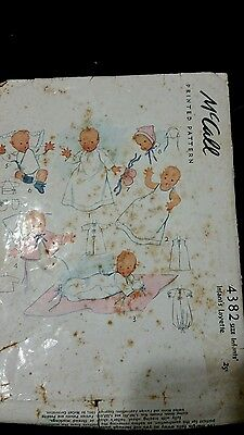 VTG 1940s McCall Infants Layette Pattern #4382,completed