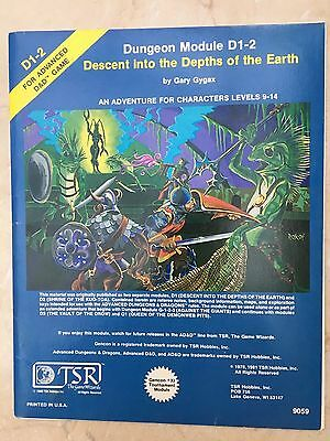 Advanced Dungeons and Dragons - D1-2 - Descent into the Depths of the Earth