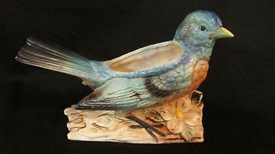 Vintage Bluebird Planter Large Figurine - Caffco Quality Products Japan Label