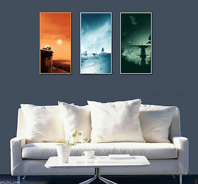 Star Wars Trilogy 3PC Unframed HD Canvas Print Home Decor Wall Art Painting