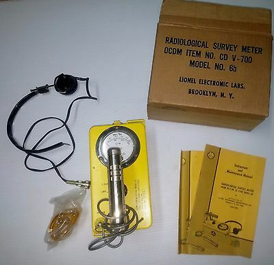 Lionel Cdv-700 6B Geiger Counter  Radiological Survey Meter (31007)